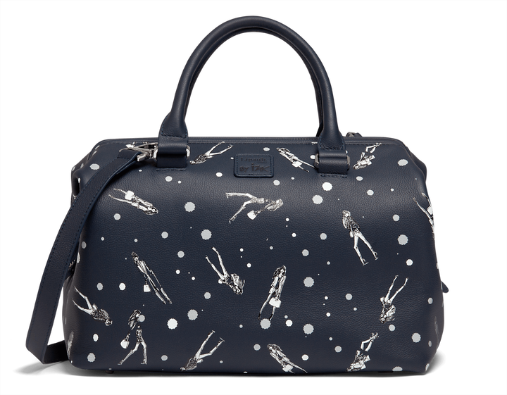 Izak Zenou Collab Bowling Bag Pose/Night Blue | 1
