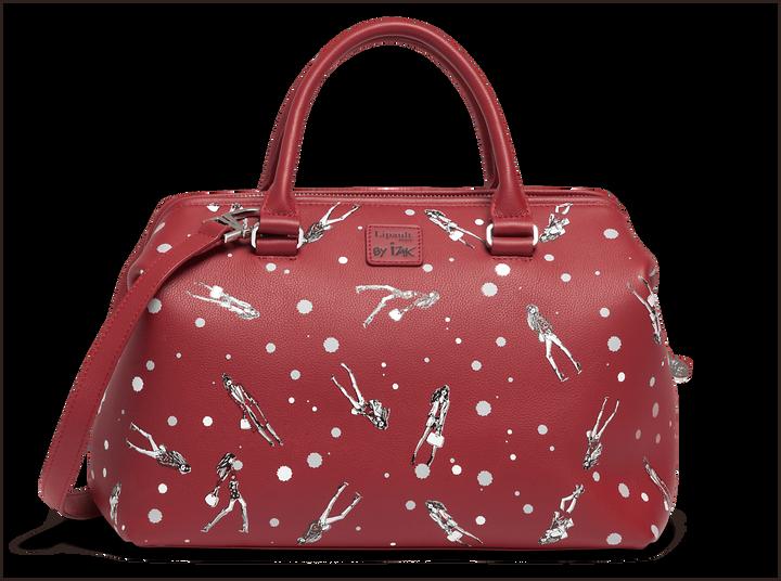Izak Zenou Collab Bowling Bag  Pose/Garnet Red | 1